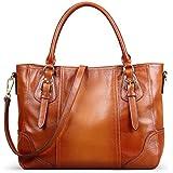 Kattee Vintage Genuine Soft Leather Shoulder Handbag Sorrel