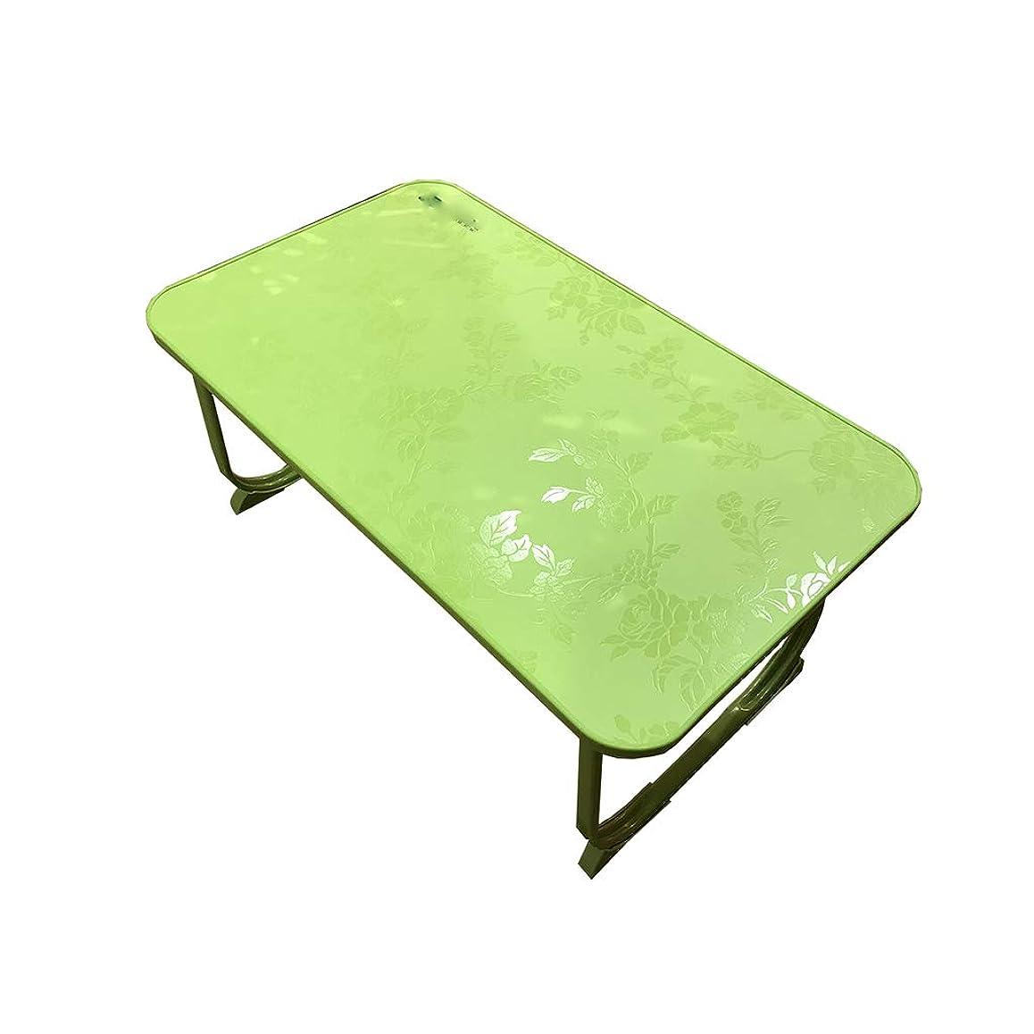リファイン引数石炭SZQ ベッド付きの小さなデスク、折りたたみ式の学生デスク児童室用書斎デスク 適用済み (色 : Green, サイズ さいず : 58*34*27cm)