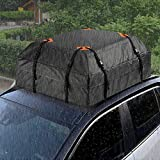 Z8 Car Top Roof Bag Cargo Carrier, 15 Cubic Feet Outdoor Waterproof Rooftop Cargo Bag with 8 Reinforced Straps & 4 Door Hooks Travel Luggage Rack Bag for Cars, SUV, Jeep, Off-Road, Vans