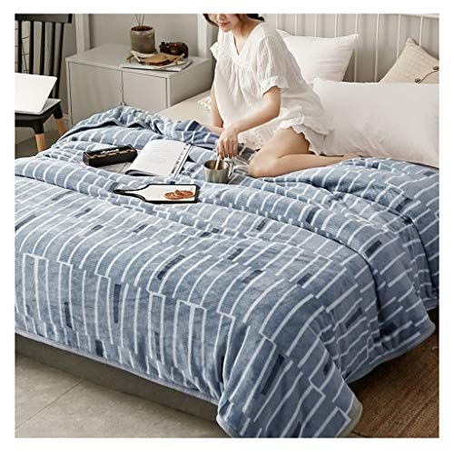 Couverture Faire Une Sieste for Augmenter Double Microfibre Douce Quilt Châle Portable 1,3 kg Little (Color : Plaid)