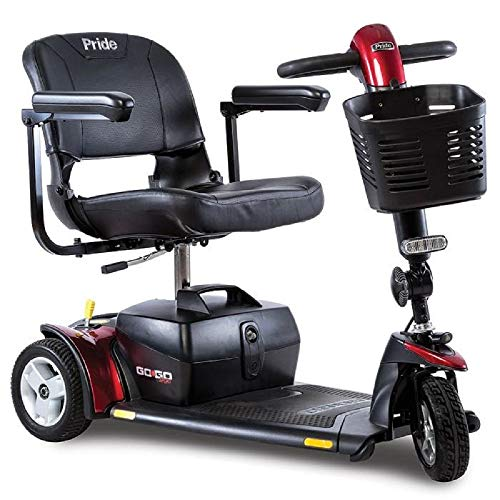 Pride Go-Go Sport 3 Wheel Mobility Scooter - Motorized Electric Medical Carts for Seniors, Handicapped, or Disabled Adults
