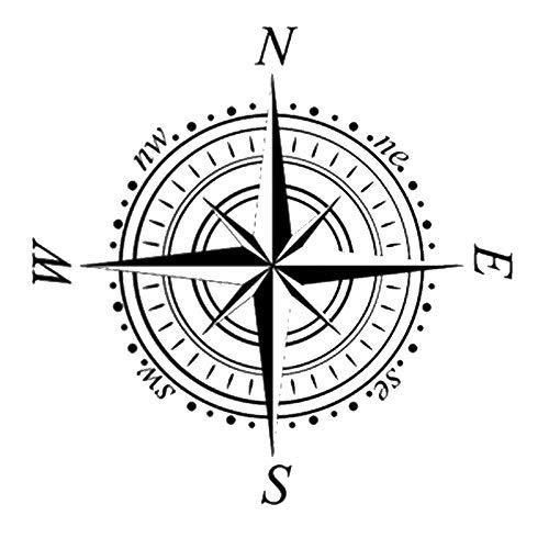 Windrose Navigationskompass wiederverwendbare Schablone A3 A4 A5 & größere Größen Wanddekoration/Kompass, Widerverwendbare PVC-Schablone, weiß, A5 size - 148 x 210 mm, 5.8 x 8.3 in.