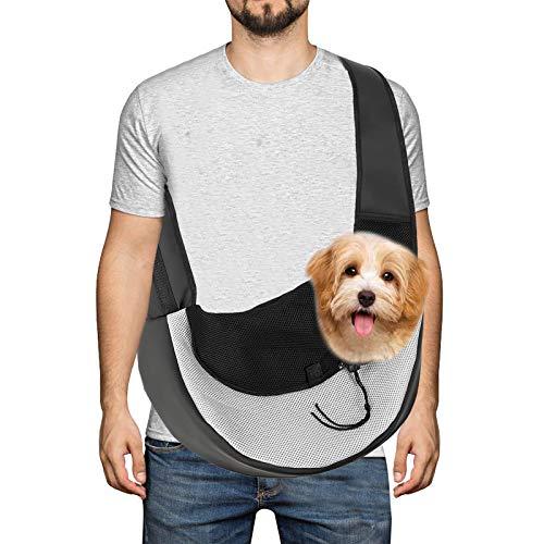 Borsa da trasporto per animali domestici, borsa da viaggio leggera per cani da viaggio, borsa da trasporto con tracolla regolabile adatta per cani di piccola taglia, gatti e altri animali domestici