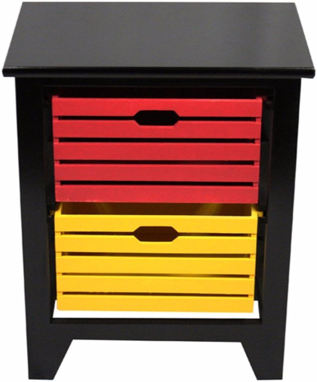 Benzara BM165171 Be4autiful Two Tier Wooden Storage Cabinet, Multicolour