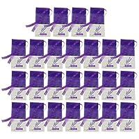 Cabilock 25ピース乾燥ラベンダー小袋紫サシェクラフトバッグ空小袋バッグ巾着宝石ポーチ結婚式パーティー好意バッグダークパープル