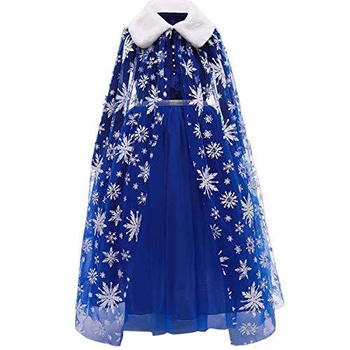 EMIN Elsa - Disfraz de reina del hielo 2 Elsa para nia, disfraz de princesa Elsa
