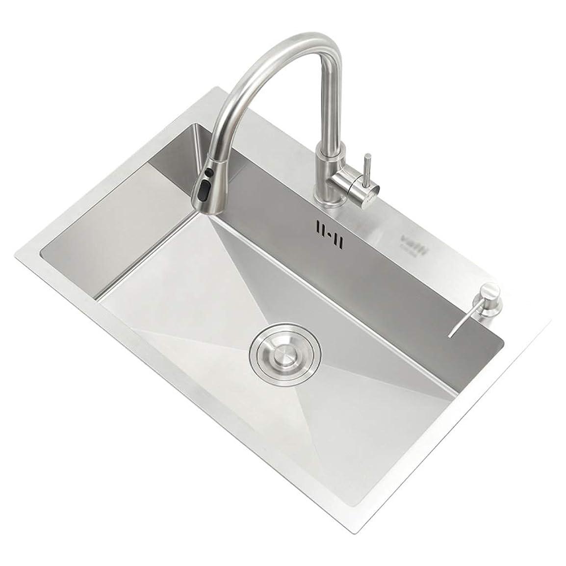どのくらいの頻度でシェーバー風味キッチンシンク 台所の流しリバーシブルの台所の流し浴室の流しの流し野菜およびフルーツのクリーニングプール (Color : Silver, Size : 55*45*20cm)