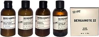 Le Labo Bergamote 22 Travel Set Includes 3 Fl Oz Shampoo, Conditioner, Body Wash, Body Lotion 2 oz Bath Soap