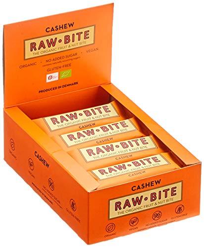 Raw Bite Rohkost Riegel Cashew, 12er Pack (12 x 50 g)