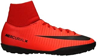 JR MercurialX Victory 6 DF TF Mens Soccer-Shoes 903604-616_2Y - University RED/Black-Bright Crimson