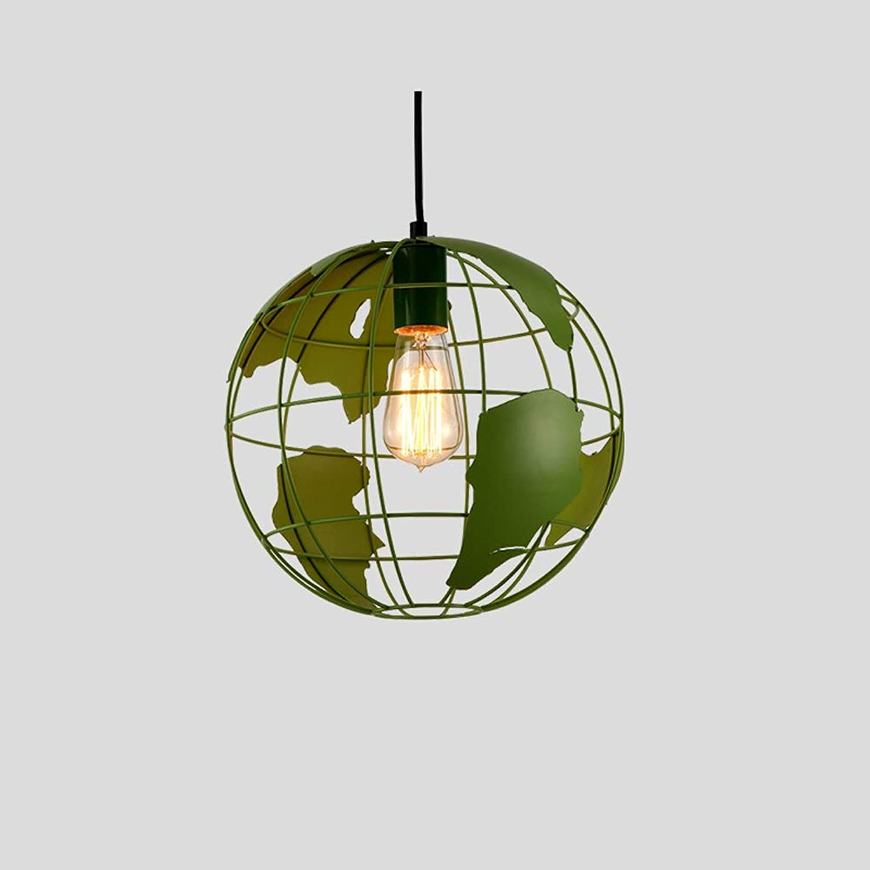 Tritow Nordic Kreative Restaurant Pendelleuchte Eisen Art Globe Hngelampe Concise Runde Einzelkopf Leuchte Küche Restaurant Pendelleuchte Schlafzimmer Dekorative Beleuchtung (Farbe   Grün)