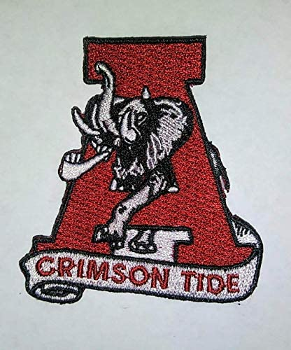 ALABAMA CRIMSON TIDE IRON ON EMBROIDERED EMBROIDERY PATCH PATCHES SCHOOL OF UNIVERSITY STATE product image