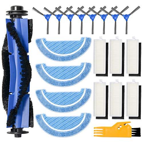 ZITFRI 20PCS Kit de Recambios para Cecotec Conga 1090 Robot Aspirador Repuestos de 6 Filtros HEPA 8 Cepillos Laterales 1 Cepillo Principal 4 Mopas de Fregona y Más, Accesorios Cecotec Conga Serie 1090