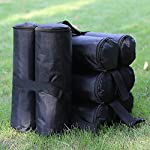 ABCCANOPY Industrial Grade Weights Bag Leg Weights for Pop up Gazebo, Patio Umbrella, Outdoor Furniture, 4pcs-Pack