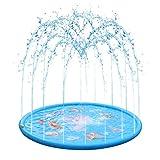 Tapis de Jeu de Jet et d'éclaboussure d'eau - Jouet de Jeu d'eau pour Les Garçons Filles - Sprinkler Splash Tapis pour Activités de Plein Air - Jouet Fontaine d'été pour Enfants (68'')