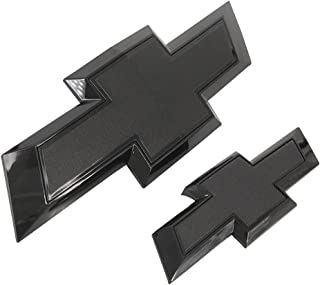 Kaifuteyun Front Grille & Rear Emblem Badge for 2015-2020 Chevy Suburban Tahoe (Black)