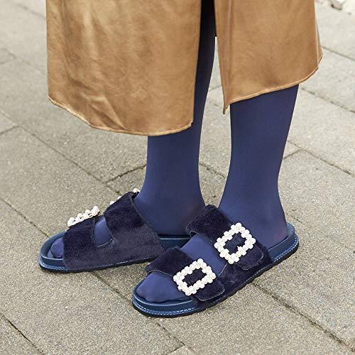 [靴下屋]クツシタヤプレミアム60デニールタイツM~Lサイズ日本製無地タイツスミクロ