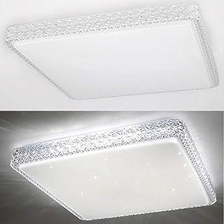 BFYLIN Lámpara de techo LED de 72 W con efecto estrellado, de bajo consumo, iluminación de techo, bonita lámpara de baño (espacio de 72 W, regulable)