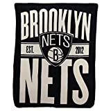 NORTHWEST NBA Brooklyn Nets Micro Raschel Throw Blanket, 46' x 60', Clear Out
