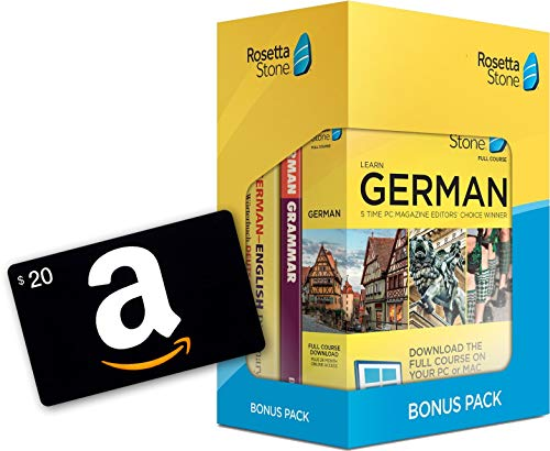 Learn German: Rosetta Stone Bonus Pack (24 Month Subscription + Lifetime Download + Book Set) with $20 Amazon Gift Card