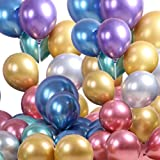 12 inch 2.8g metallic latex balloon thickened chrome color mixed balloon (jsqq)