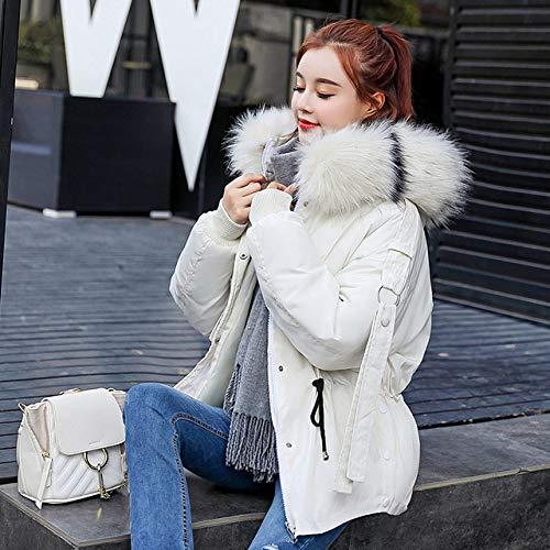 WFSDKN Parka bontkraag vrouwen winterjas parka 2019 mode dikke warme lantaarn mouwen tops jack slanke feesten lieve jassen voor vrouwen