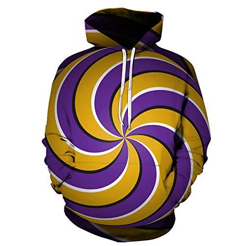 Gelb lila Whirlpool Kapuzenpullover Herren Pullover Jacke Kapuzenpullover Cartoon Bedruckte Pullover Sport Hoodie-Color_XL