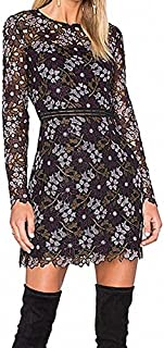 Cynthia Rowley Women's Floral-Lace Fitted Dress with Trim Detail