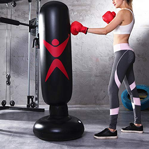 Aufblasbarer Boxsack für Erwachsene und Kinder - PVC Aufblasbare Boxsäule Fitness Hit Sandbag Aufblasbare Säule Tumbler Boxsack