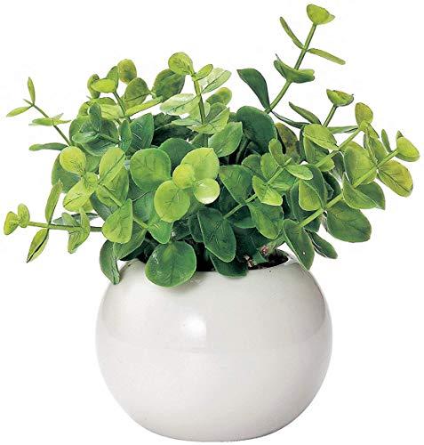 ミニ インテリアグリーン 造花 観葉植物    かわいい まあるい 光触媒 グリーン ユーカリ
