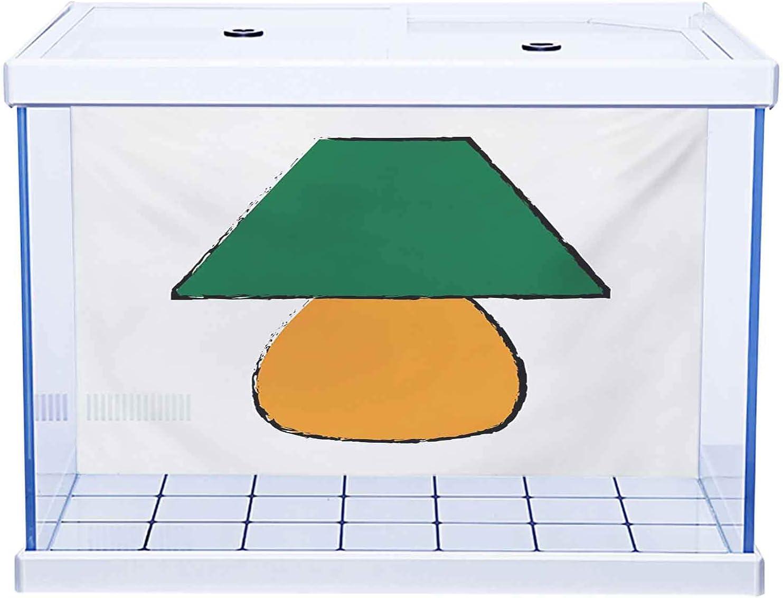 Fish Tank Terrarium Aquarium Background Elegant Branded goods Orange Poster Green and