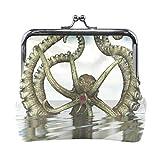 Porte-monnaie 3D géant pieuvre baiser boucle vintage
