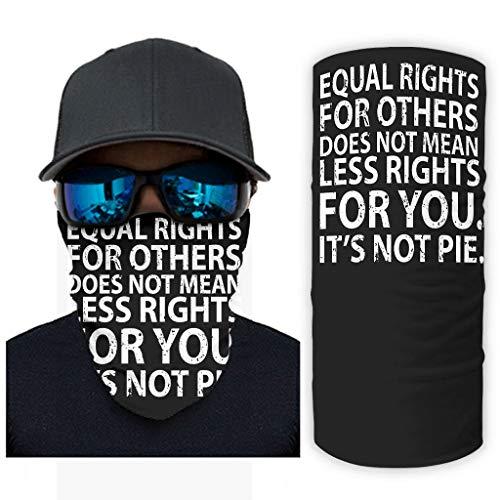 CCMugshop Pasamontañas para la cara con la igualdad de oportunidades, otras vidas negras son importantes, pasamontañas con impresión UV/Dust White, talla única