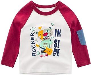 Coconute Kinder Jungen Langarm Shirt Tops Tee Kleidung Outfits Cartoon Tier Dinosaurier Kinder Sweatshirt Jungenpullover Gef/älschter Zweiteiliger Pullover