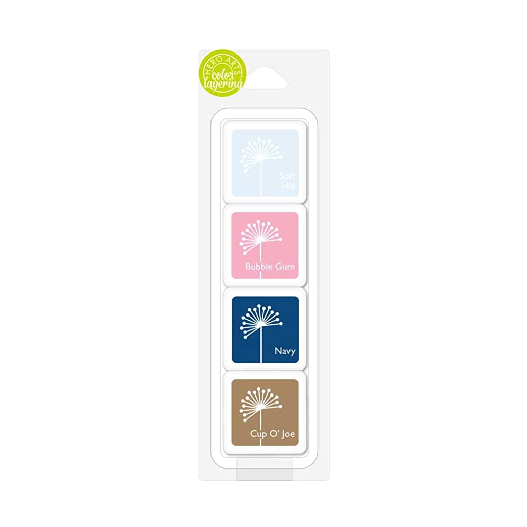 Hero Arts Birds & Blossoms Layering Ink Cubes, 4 Piece
