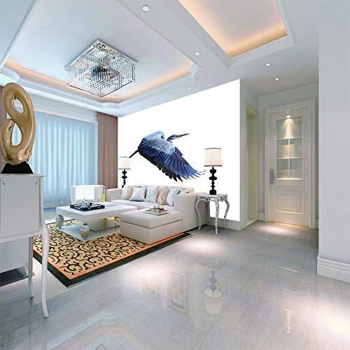 Fotobehang wandbehang motief vogel dier wit foto wallpaper decoratie wanddecoratie modern murimage badkamer woonkamer luier 250 x 175 cm