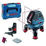 Bosch Professional Nivel láser GLL 3-50 (láser rojo, interior, alcance: 10m, 4pilas AA, soporte giratorio, soporte BM1, L-BOXX)