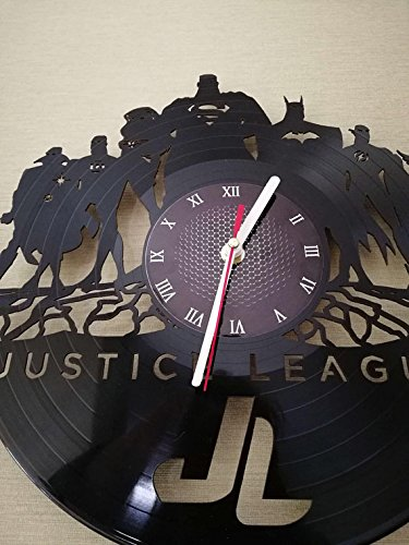 JUSTICE LEAGUE VINYL WALL CLOCK - Best of the best gift for men or fan DC COMICS merchandise gifts for kids bedroom decor