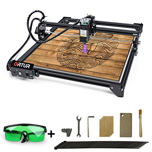 ORTUR Laser Master 2, Laser Engraver CNC, Laser Engraving Cutting Machine, DIY Laser Marking for Metal with 32-bit Motherboard LaserGRBL(LightBurn), 400x430mm Large Engraving Area (LU1-3)