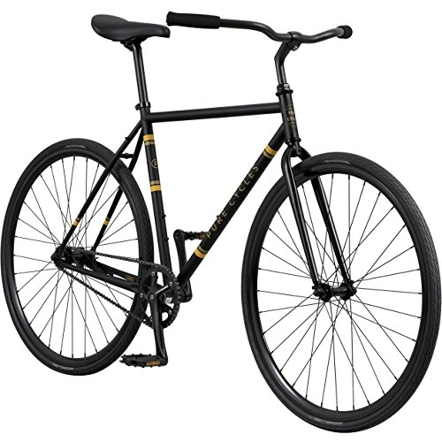 Pure Cycles 1-Speed Urban Coaster Bicycle, 54cm/Medium, Flatback Black