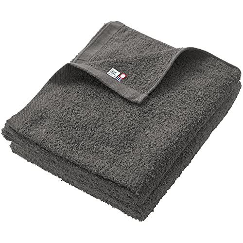 今治タオル まとめ買い コンパクトサイズ バスタオル 2枚セット 約60×100cm (チャコール) 日本製