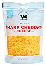 Amazon Brand - Happy Belly Shredded Sharp Cheddar Cheese, 8 Ounce