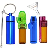 All-in-one Snuff Bullet Kit Include Snuff Bullets,Snuff Bottle with Spoon Aluminium Rocket Snorter Glass Snuff Vial with Funnel by 5 Packages in The Kit by Mocossmy(5 Pack)