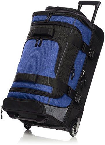 AmazonBasics - Duffel Reisetasche mit Rollen, Ripstop, 72 cm, 64 Liter, Blau