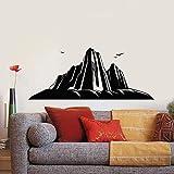 Aventura pegatinas de pared majestic mountain peaks hillside birds arte puertas ventanas pegatinas de vinilo dormitorio adolescente decoración del hogar murales