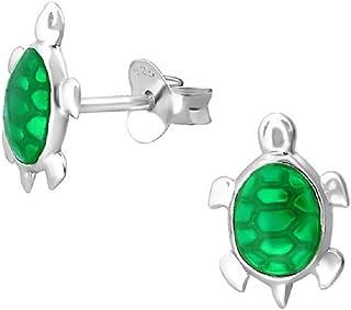 Laimons Kids Bijou pour enfant boucles doreilles pour enfant grenouille vert argent sterling 925