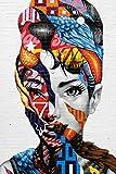 Pintar por Numeros Adultos Mujer Abstracta Pintura Guiada por Numeros,Niños DIY Pintura por Números con Pinceles y Pinturas- 40 x 50 cm Paint by Numbers Hogar Decoración de Casa(sin marco)