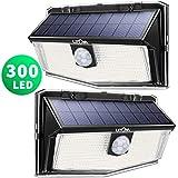 Mpow 300 LED Lampe Solaire Extérieur Puissante Étanche IPX7 Lumière Sécurité de Détecteur de Mouvement PIR Sensible à Grand Angle 270° en Appliquée Mur Cour Terrasse Entrée Parking Allé Patio