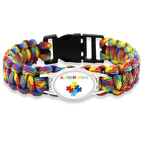 The Electric Mammoth Autism Puzzle Pieces Awareness Paracord Bracelets