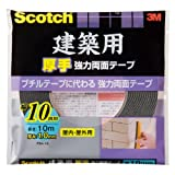 3M スコッチ 建築用 厚手 強力両面テープ 10mm×10m PBA-10